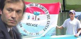 Ministro Béliz y bandera del MOCASE