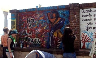Mural realizado en el Parque República de Paraguay.