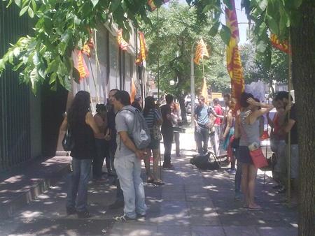 Movilización por la reincorporación de Esteban Salcedo