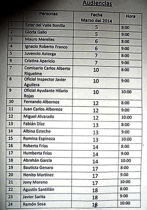 Citación a declaración de los 24 integrantes de la comunidad wichí Barrio Obrero en Ingeniero Juárez (segunda parte)