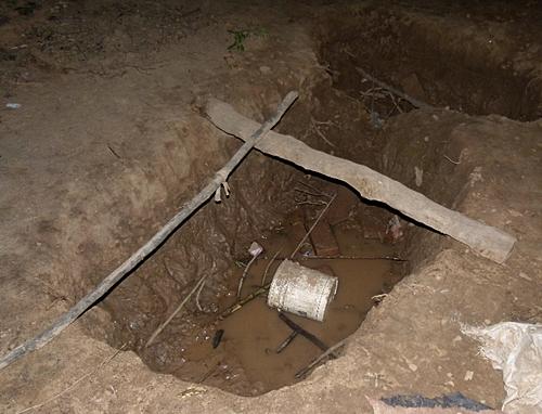 Pozo de agua contaminada en Pocitos