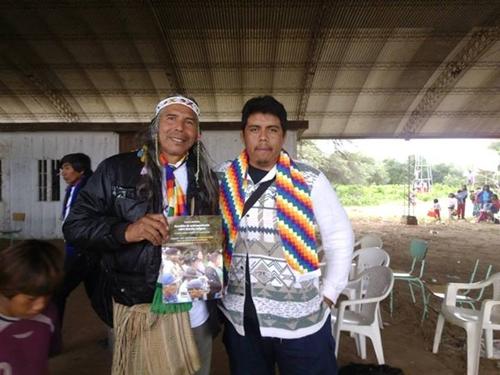Agustín Santillán y Félix Díaz en el encuentro del cual surgió el Documento TIERRA - Tratado Interétnico para la Refundación de la República Argentina