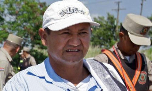Vidal Vega, dirigente de Yvy Pyta, Canindeyu, asesinado el 1 de diciembre de 2012.