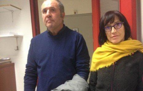 Los activistas Begoña Huarte y Mikel Zuloaga han sido detenidos en Grecia. (@Hibai_)