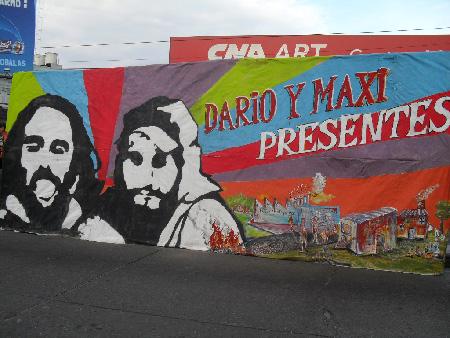 Los murales fueron la característica del día