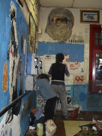 Muralistas en acción