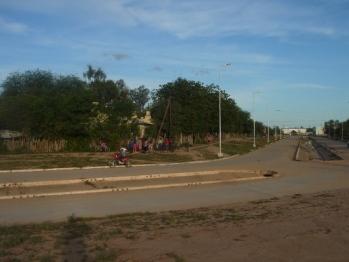 Esquina donde se produjo el ataque policial a niños wichí