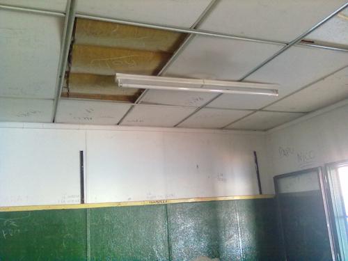 Imagen del estado de las instalaciones de una escuela bonaerense