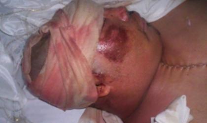 Imagen que muestra cómo fue entregado el cuerpo de Víctor Segundo a sus familiares